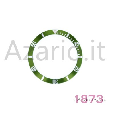 Inserto in alluminio per ghiera Rolex Submariner Verde Argento 16610 16800 RX-315.16800.LV