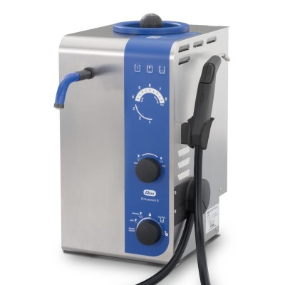 Steam cleaner with fixed nozzle, handpiece, pump and compressed air - Elmasteam 8 basic