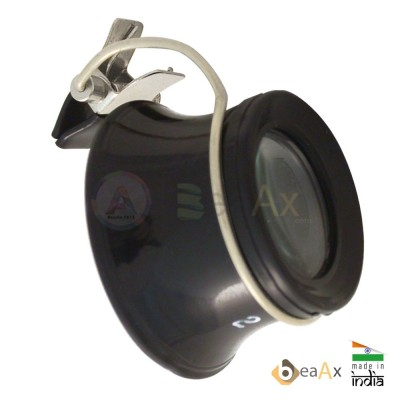 Monocolo di plastica con pinzetta per ogni tipo di occhiali e lente ø 23 mm AG0716-S