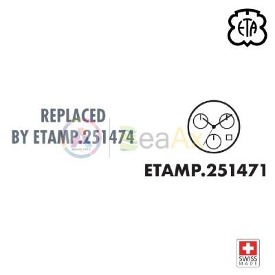 Quartz movement ETA 251.472 date 4 orizontal - Swiss Made