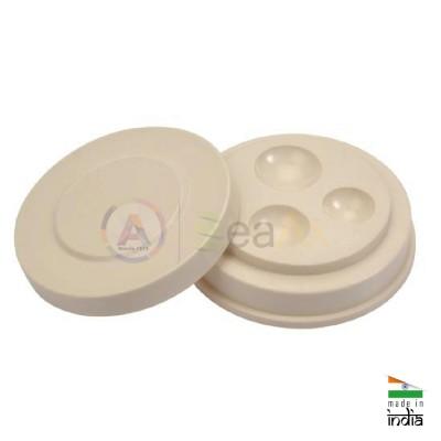 Portaolio di plastica 3 vaschette irregolari e coperchio chiusura a pressione