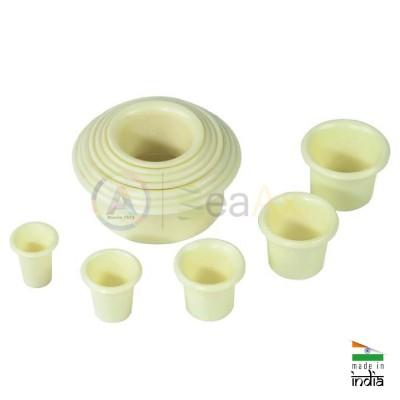 Porta movimenti in plastica set da 12 pz circolari per orologeria AG1978