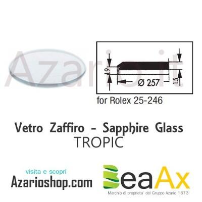 Vetro Zaffiro Rolex Tropic 25.246 senza lente guarnizione inclusa - Swiss Made
