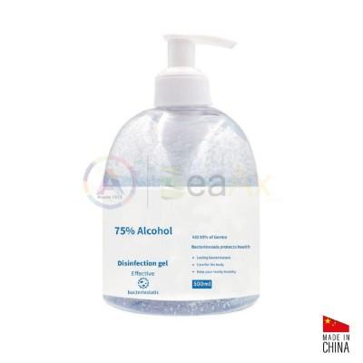 Gel igienizzante mani a base alcolica 75% senza acqua in flacone da 500 ml