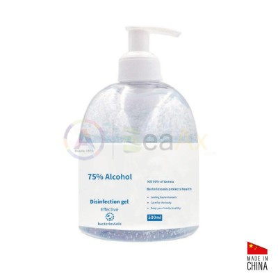 Gel igienizzante mani a base alcolica 75% senza acqua in flacone da 500 ml GEL-500