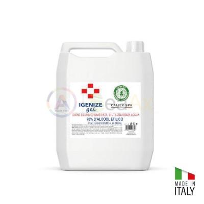 Gel igienizzante senza acqua base alcolica 70% in tanica da 5 lt. GEL-5X