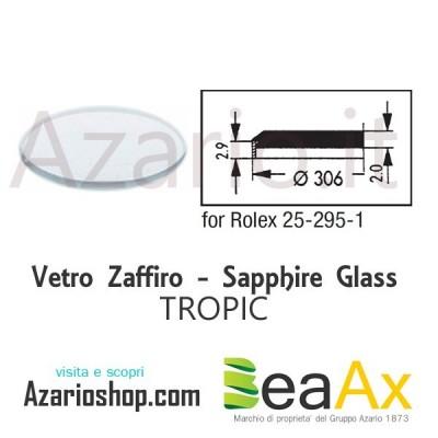 Vetro Zaffiro Rolex Tropic 25.295 senza lente guarnizione inclusa - Swiss Made RX.25.295