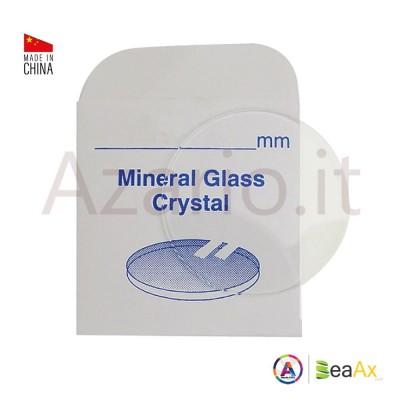 Round flat mineral glass thickness 0.80 mm ø sizes n° 351  a 400 / ø 35.1 a 40mm