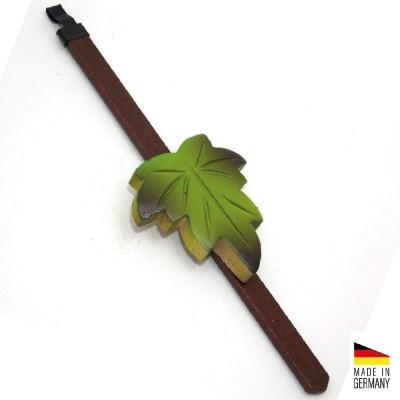 Pendolino a foglia in legno colorato verde Cucù foresta nera Made in Germany BL4488.2