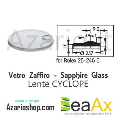 Vetro Zaffiro Rolex Cyclope 25.246C con lente guarnizione inclusa - Swiss Made