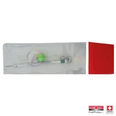 Cacciavite classico di precisione Horotec fornito con 3 lame di ricambio e bag MSA-01.099