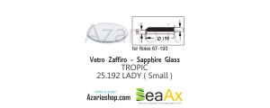 Sapphire glass for Rolex 25.192 Tropic including gasket - Swiss Made