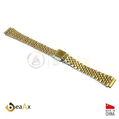 Cinturino compatibile in acciaio inox dorato per orologio Casio LA-680WGA HB.LA680WGA