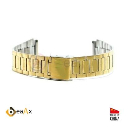 Cinturino compatibile in acciaio inox dorato per orologio Casio A168WG