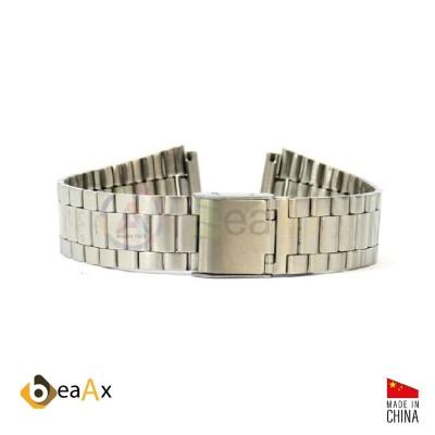 Cinturino compatibile in acciaio inox per orologio Casio A158WA HB.A158WA