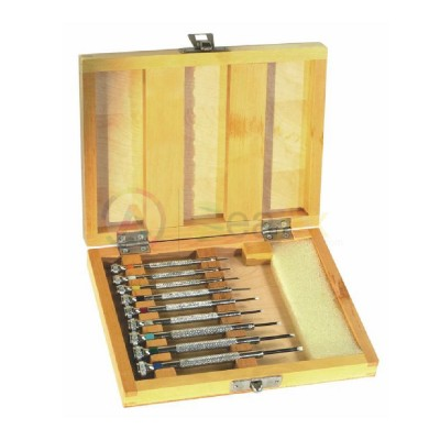 Cacciaviti 9 pz metallo 0.50 - 2.50 mm con custodia in legno e lame di ricambio AG2077