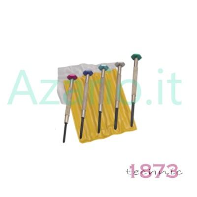 Assortimento 5 cacciaviti speciali a punta fissa cruciforme PHILLIPS type AG2074