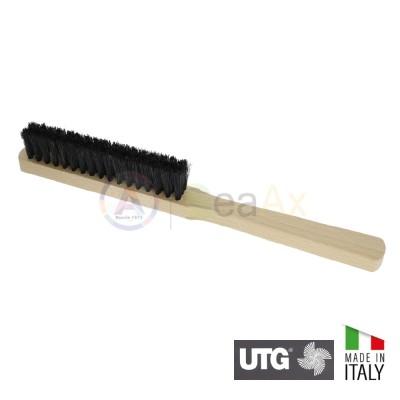 Spazzola retta a mano con setola chungking nera forte 4 ranghi UTG Made in Italy U222100.4
