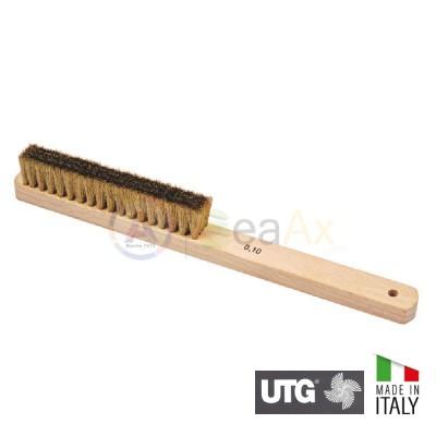 Spazzola retta a mano filo di ottone ø 0.08 mm con 4 ranghi UTG Made in Italy