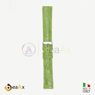 Genuine brasile crocodile watchstrap Light Green - Made in Italy