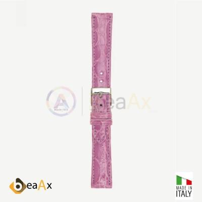 Cinturino vero coccodrillo brasile Lilla fibbia acciaio - Made in Italy