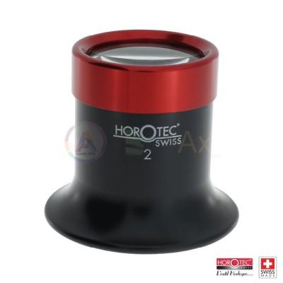 Monocolo Horotec in plastica nera e ghiera alluminio avvitata N° 2 0  Ing. 5x  MSA-00.016-20