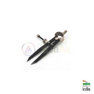 Calibro a compasso in metallo con testa tracciante regolazione a vite - 110 mm AG0262