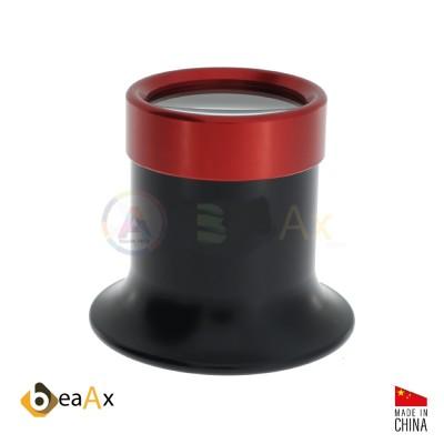 Black plastic eyeglass with screwed aluminium bezel BeaAx N° 2 0   Ing. 5x
