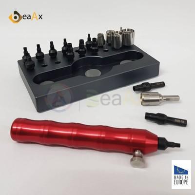 Utensile BeaAx per smontare montare tubi cassa a vite corone pulsanti cuscinetti BX106075