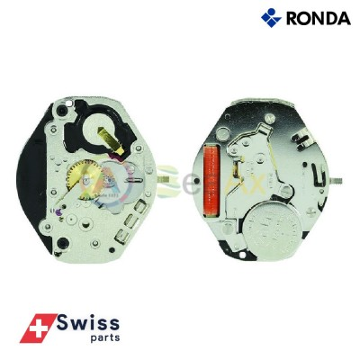 Movimento al quarzo Ronda 1062 due sfere senza data Swiss Parts RND-1062
