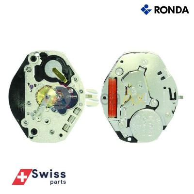 Movimento al quarzo Ronda 1063 tre sfere senza data Swiss Parts RND-1063