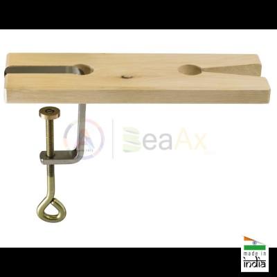 Morsa da traforo con testa estraibile a V in legno e fissaggio a vite  AG0131
