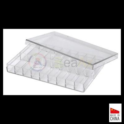 Scatola in plastica trasparente archiviazione componenti 18 posti 100x65x12 mm SL2135