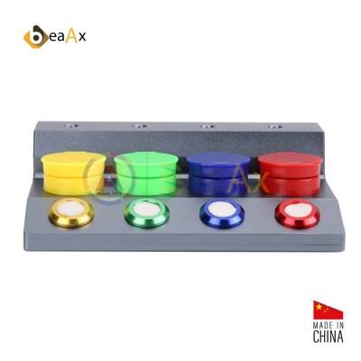 Porta olio 4 posti con coperchio e zona porta oliatori base alluminio sabbiato BX109003
