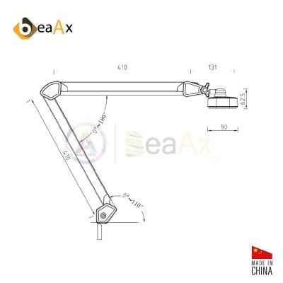 Lampada per banco da lavoro 234 LED antiriflesso 24W luminosità tono regolabili BX019505