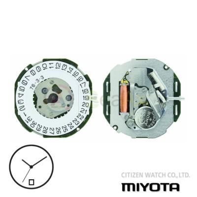 Movimento al quarzo Miyota 2115 tre sfere con datario H6 Citizen Watch Japan MYM-2115-H6