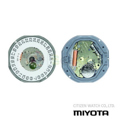 Movimento al quarzo Miyota 1M12 tre sfere datario H3 - Citizen Watch Japan MYM-1M12