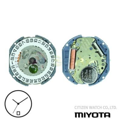 Movimento al quarzo Miyota 1N12 tre sfere datario H6 Citizen Watch Japan MYM-1N12-H6