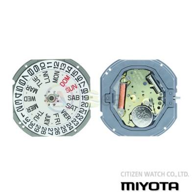 Movimento al quarzo Miyota 1S02 tre sfere doppia data H3 Citizen Watch Japan MYM-1S02