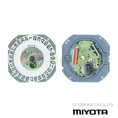 Movimento al quarzo Miyota 1S13  1S12 tre sfere datario H3 Citizen Watch Japan MYM-1S13