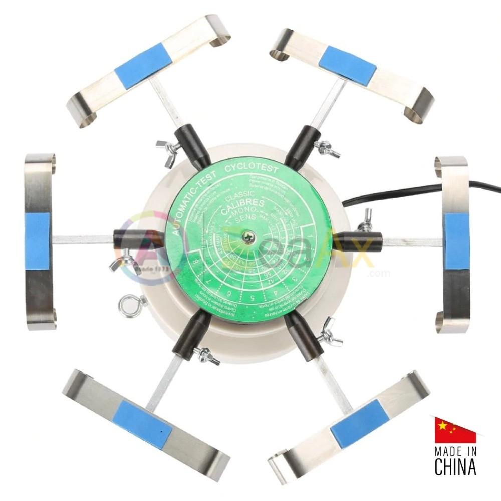 Simulatore di carica rotante per 6 orologi braccialati dotato di testa a molla BX503031
