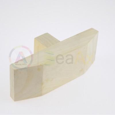 Stocco cuneo doppio verticale legno duro per morsa e banchi orafo 155x55x26 mm AG0128