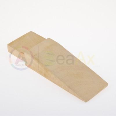 Stocco cuneo in legno duro per banchi da lavoro 155x60x28 mm innesto 40x13 mm AG0125