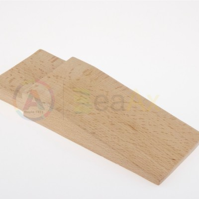 Stocco cuneo in legno duro per banchi da lavoro 180x70x28 mm innesto 80x12 mm AG0126