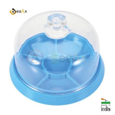 Kit di protezione campana proteggi polvere trasparente e vassoio 6 scomparti AG2155