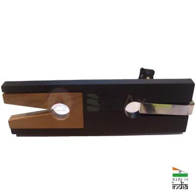 Morsa da traforo plastica con testa estraibile a V in legno e fissaggio a vite  AG0133