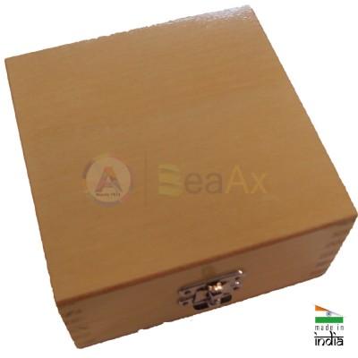 Scatola in legno porta punte e frese da 100 posti chiusura scatto 130x130x70 mm AG0156