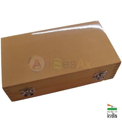 Scatola in legno porta punte e frese da 200 posti chiusura scatto 235x125x68 mm AG0157