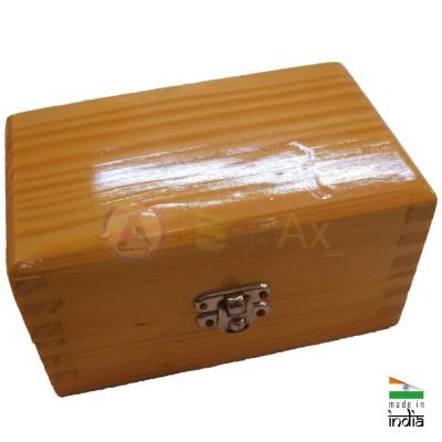 Scatola in legno porta punte e frese da 36 posti chiusura a scatto 120x70x75 mm AG0154