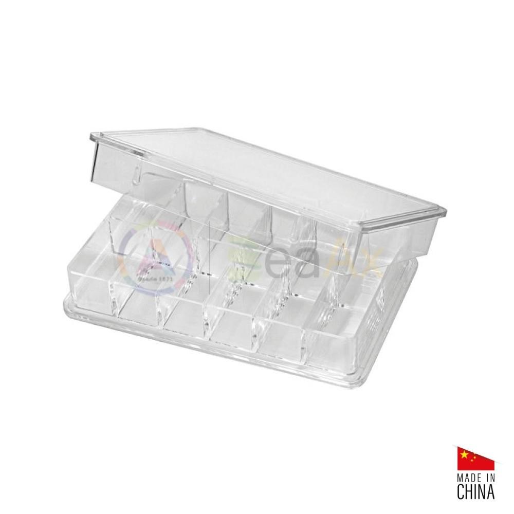 Scatola in plastica trasparente archiviazione componenti 12 posti 84x54x16 mm AG1921-A